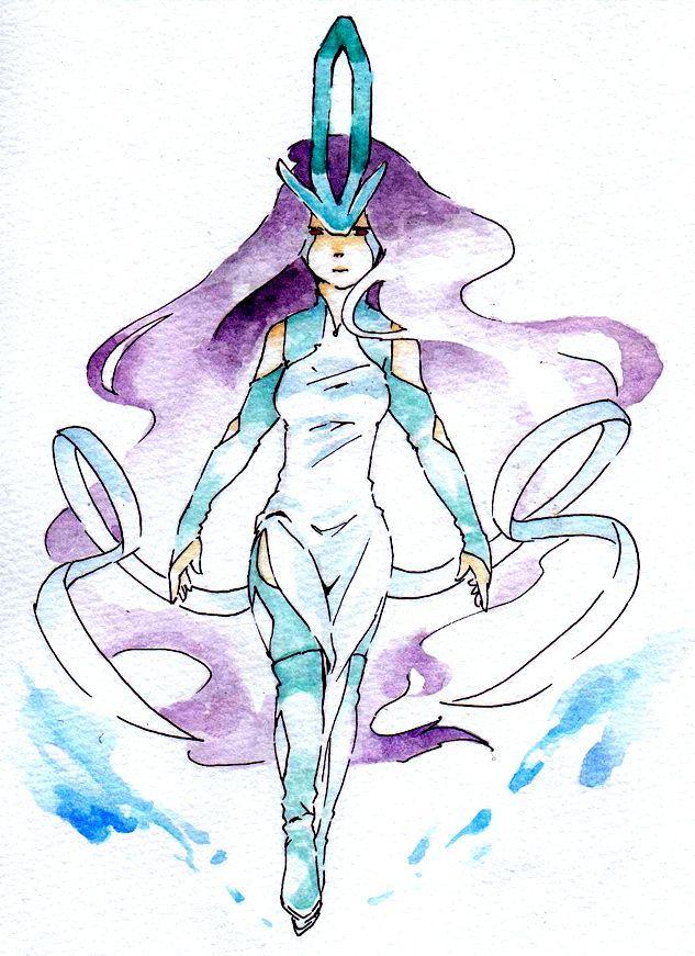 ポケモン,ポケットモンスター,擬人化,水彩,画像,まとめ058