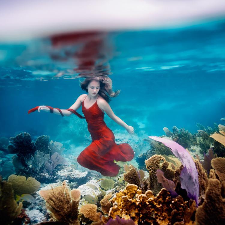 美少女,幻想的,水中アート,画像,まとめ028