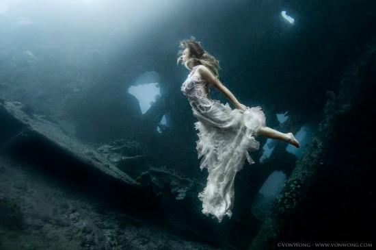 美少女,幻想的,水中アート,画像,まとめ029