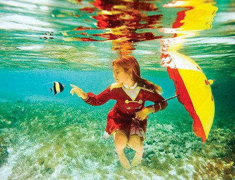 美少女,幻想的,水中アート,画像,まとめ035