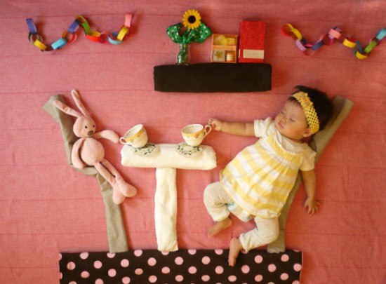 赤ちゃん,寝相アート,画像,可愛すぎる,話題036