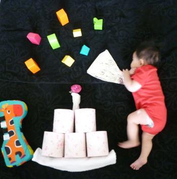 赤ちゃん,寝相アート,画像,可愛すぎる,話題037
