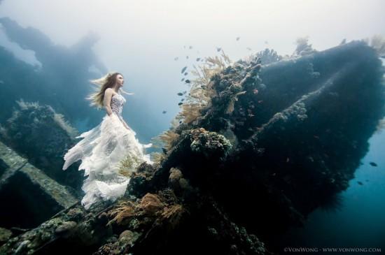 美少女,幻想的,水中アート,画像,まとめ037