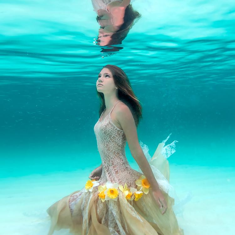 美少女,幻想的,水中アート,画像,まとめ038