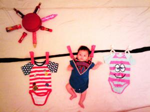 赤ちゃん,寝相アート,画像,可愛すぎる,話題041