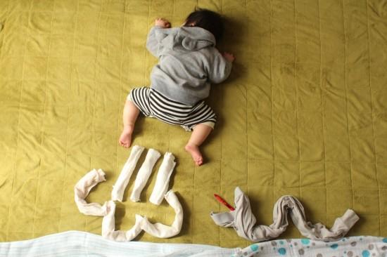 赤ちゃん,寝相アート,画像,可愛すぎる,話題048