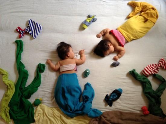赤ちゃん,寝相アート,画像,可愛すぎる,話題061