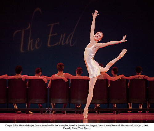 """Eyes on You"" dress rehearsal;Oregon Ballet Theatre;Newmark Theater"