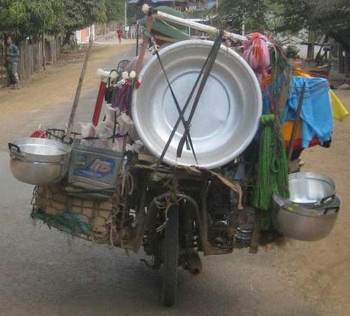 限界,バイク,荷物,積んでいる,おもしろ画像,まとめ008