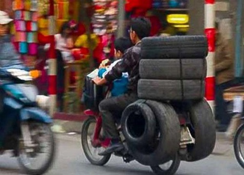 限界,バイク,荷物,積んでいる,おもしろ画像,まとめ012