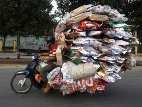 限界,バイク,荷物,積んでいる,おもしろ画像,まとめ014