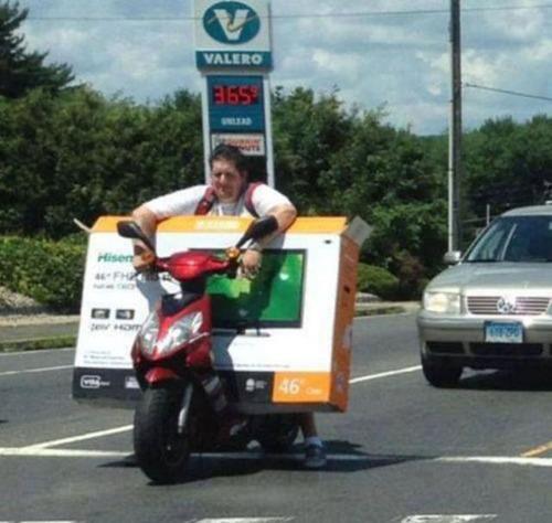 限界,バイク,荷物,積んでいる,おもしろ画像,まとめ020