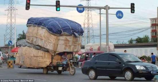 荷物,積み過ぎ,ハラハラ,画像,まとめ006
