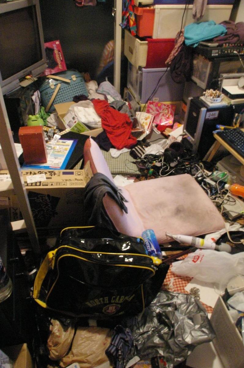 これはひどい,絶望,汚部屋,画像006