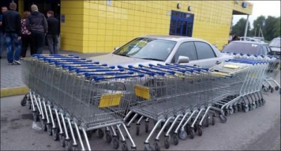 ざまぁ!,海外,違法駐車,イタズラ,画像018