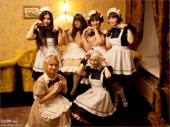 美しすぎる,白人,メイド,コスプレ,画像004