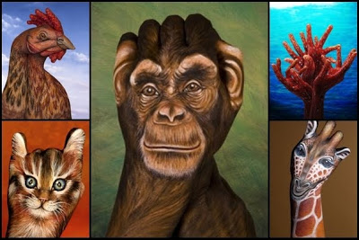 手,動物,ボディペイント,画像,まとめ024