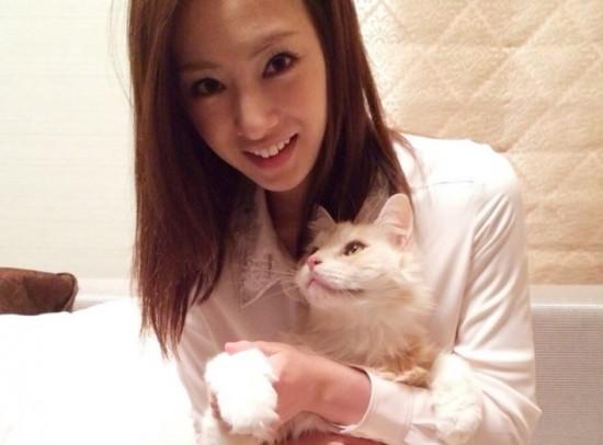 美しい,可愛い,美人飼い主,猫,画像012