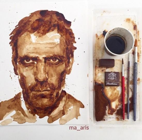 これはすごい,コーヒー,イラスト,アート,画像,貼っていく